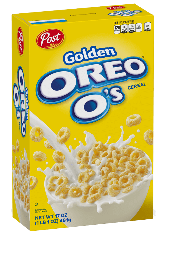 Golden Oreo O's Cereal box