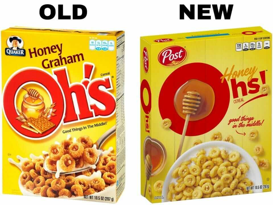 Honey Graham Ohs cereal vs Honey Oh's cereal