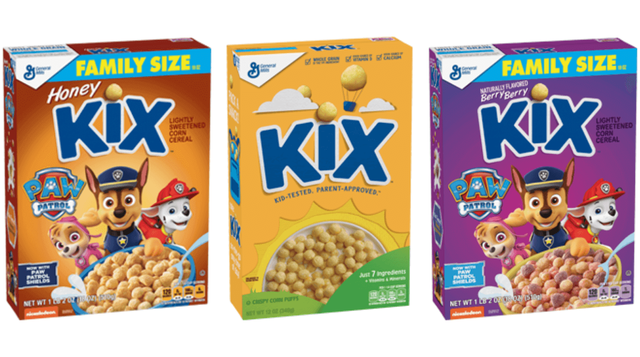 Kix cereal flavors include original, berry berry, and honey