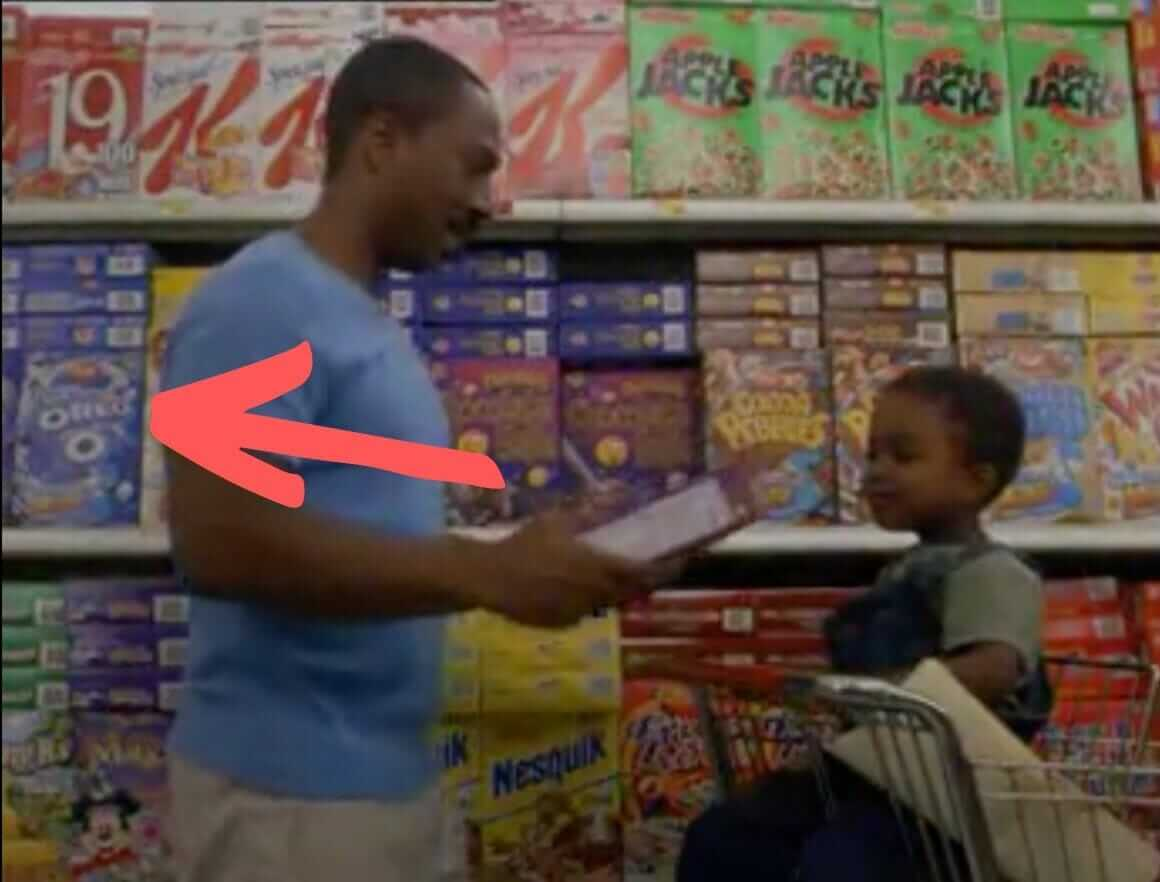 Oreo O's cereal on Daddy Day Care movie