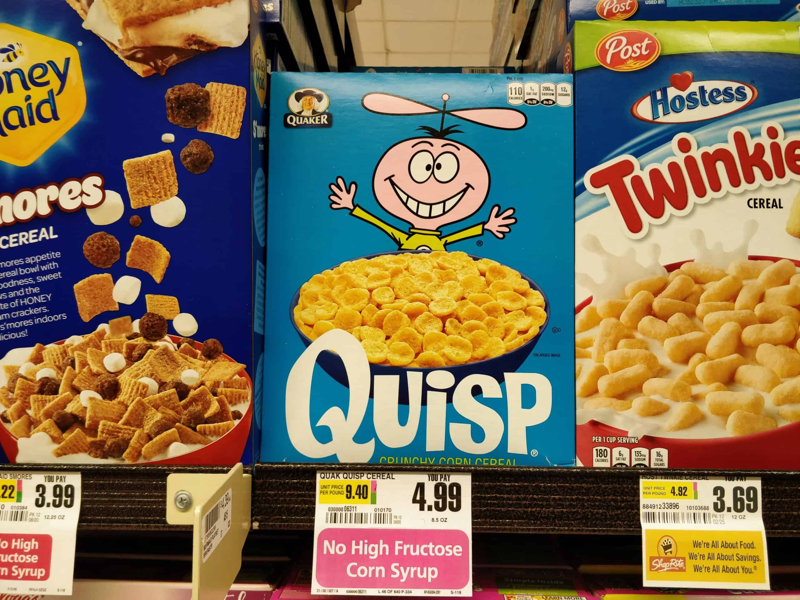 Quisp Cereal for sale at ShopRite in New Jersey