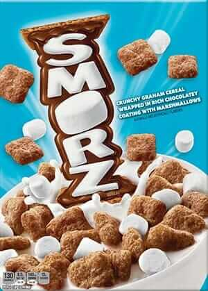 Smorz cereal box
