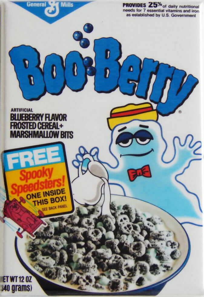 Boo Berry cereal box from 1973