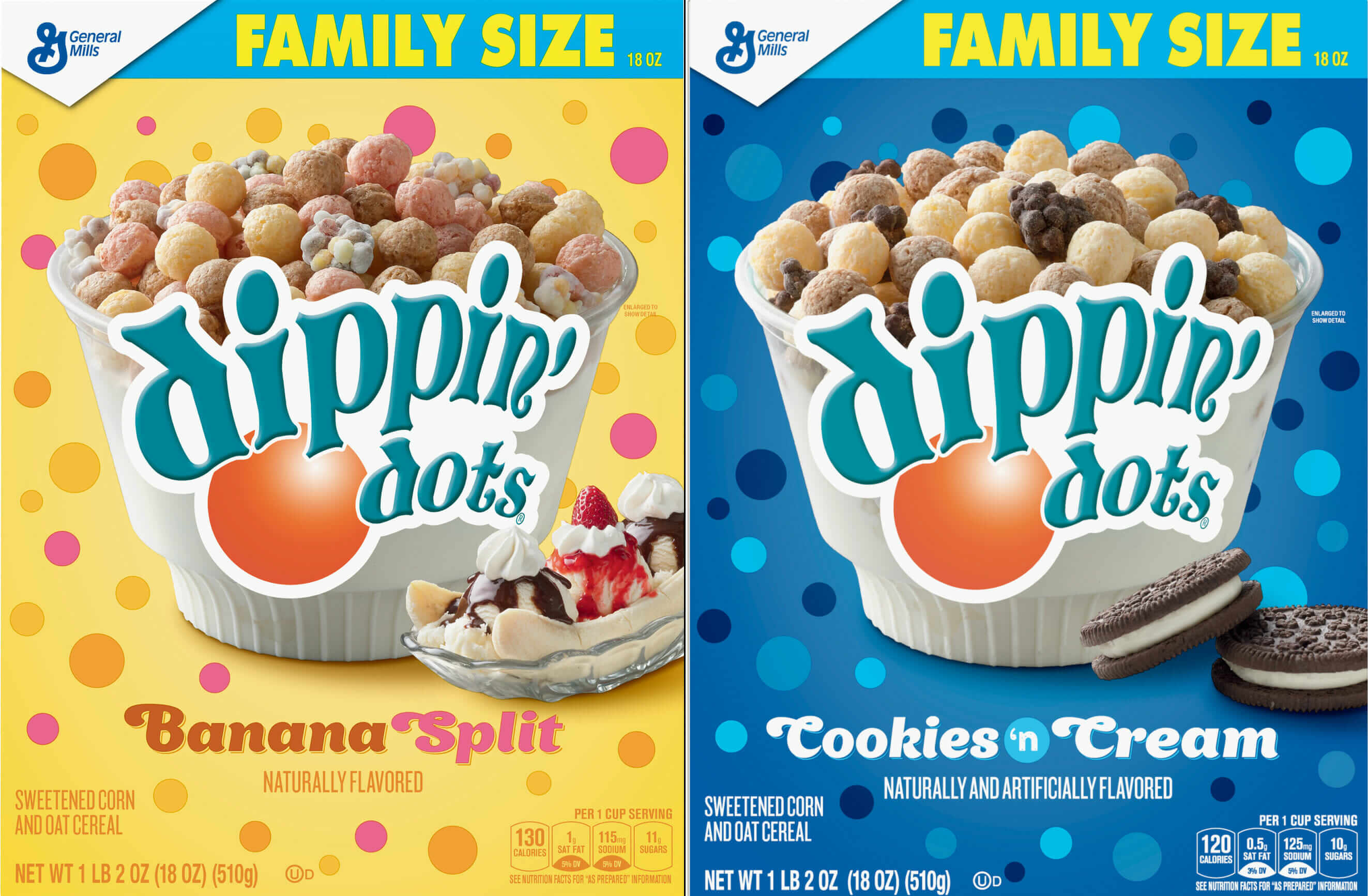 Dippin' Dots cereal flavors