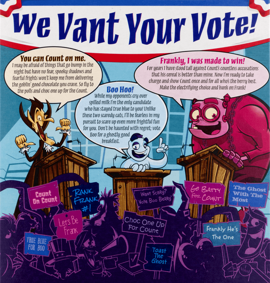 Monster cereal election 2016 vote