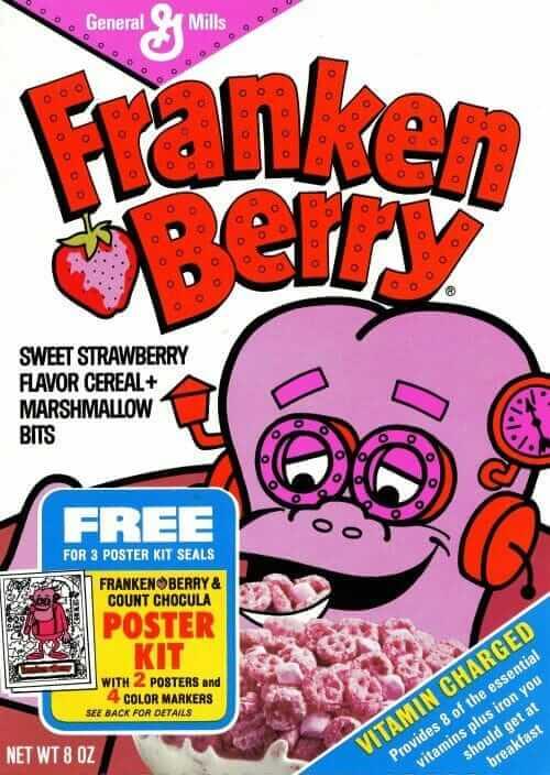 Old Frankenberry cereal box