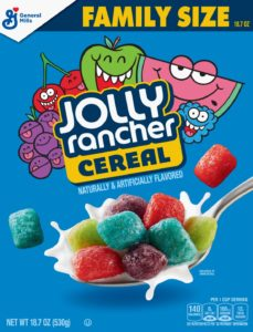 Jolly Rancher cereal box