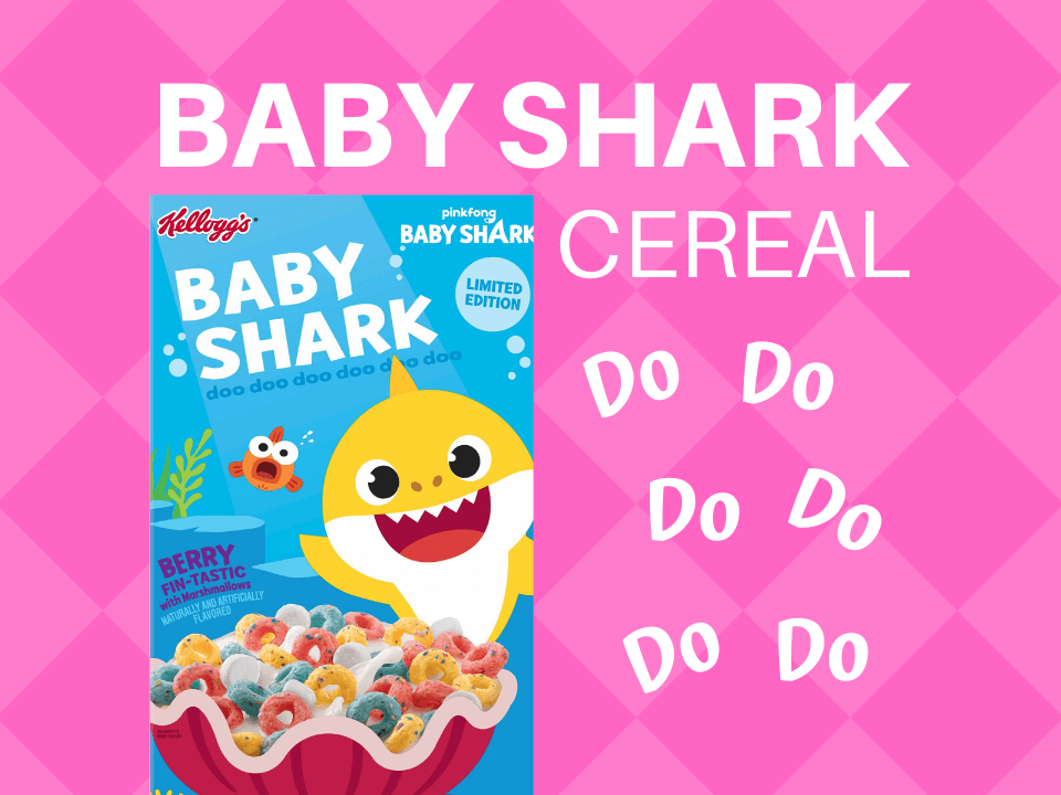 Baby Shark cereal from Kelloggs