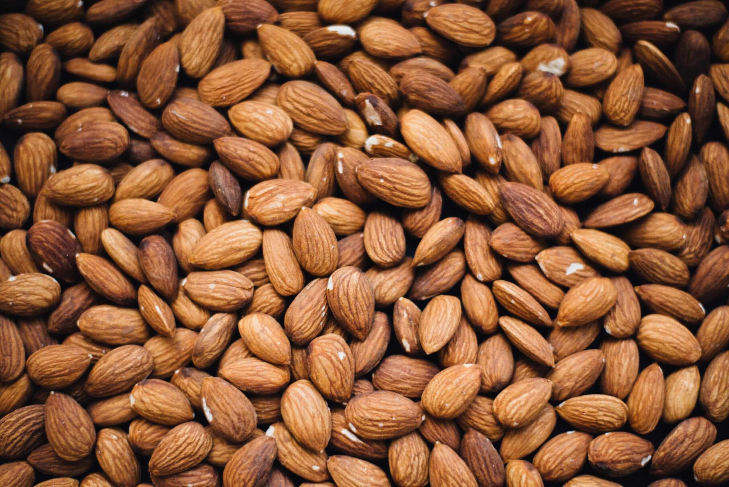 A whole lot of almonds