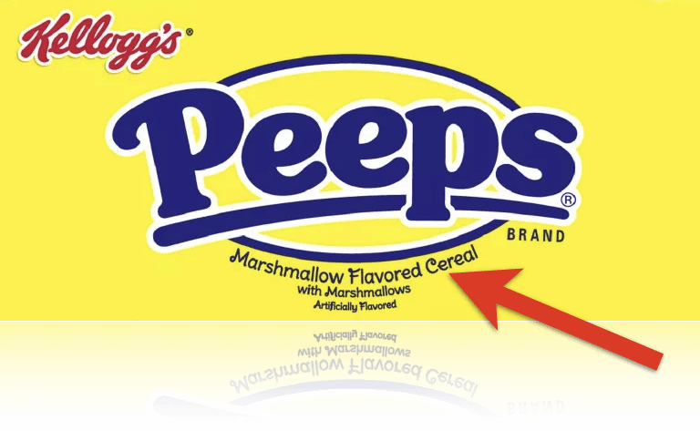 Peeps marshmallow flavored cereal
